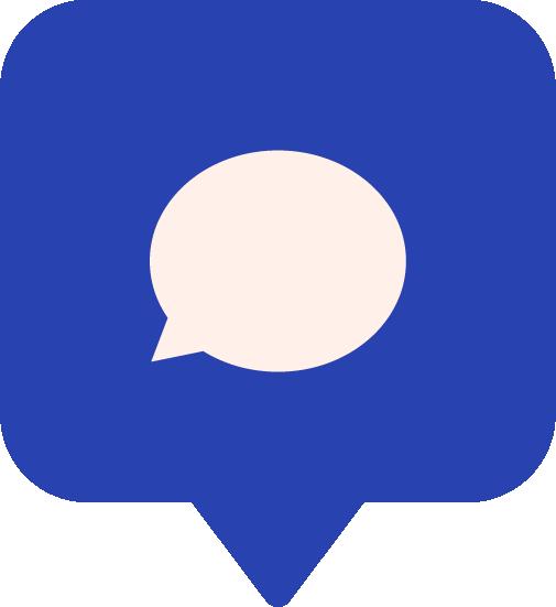 Une bulle avec un message.